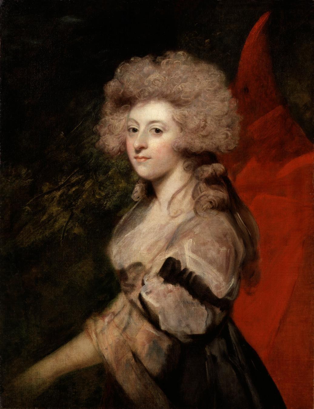 Sir Joshua Reynolds, Maria Anne Fitzherbert (née Smythe), 1788, oil on canvas, National Portrait Gallery, London.