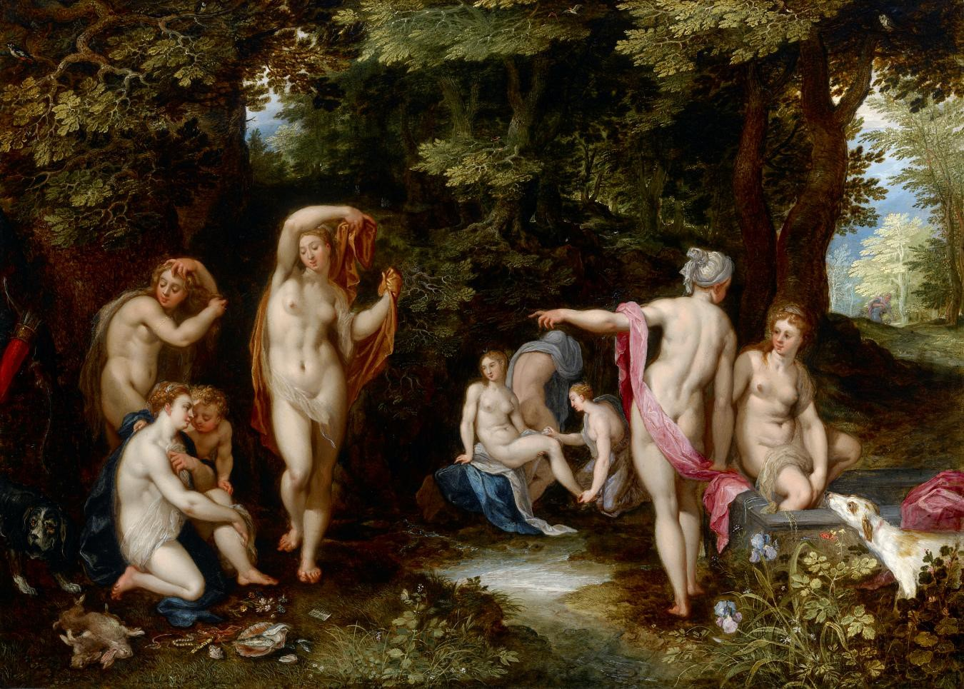 Jan Brueghel the Elder, Diana and Actaeon, c. 1600