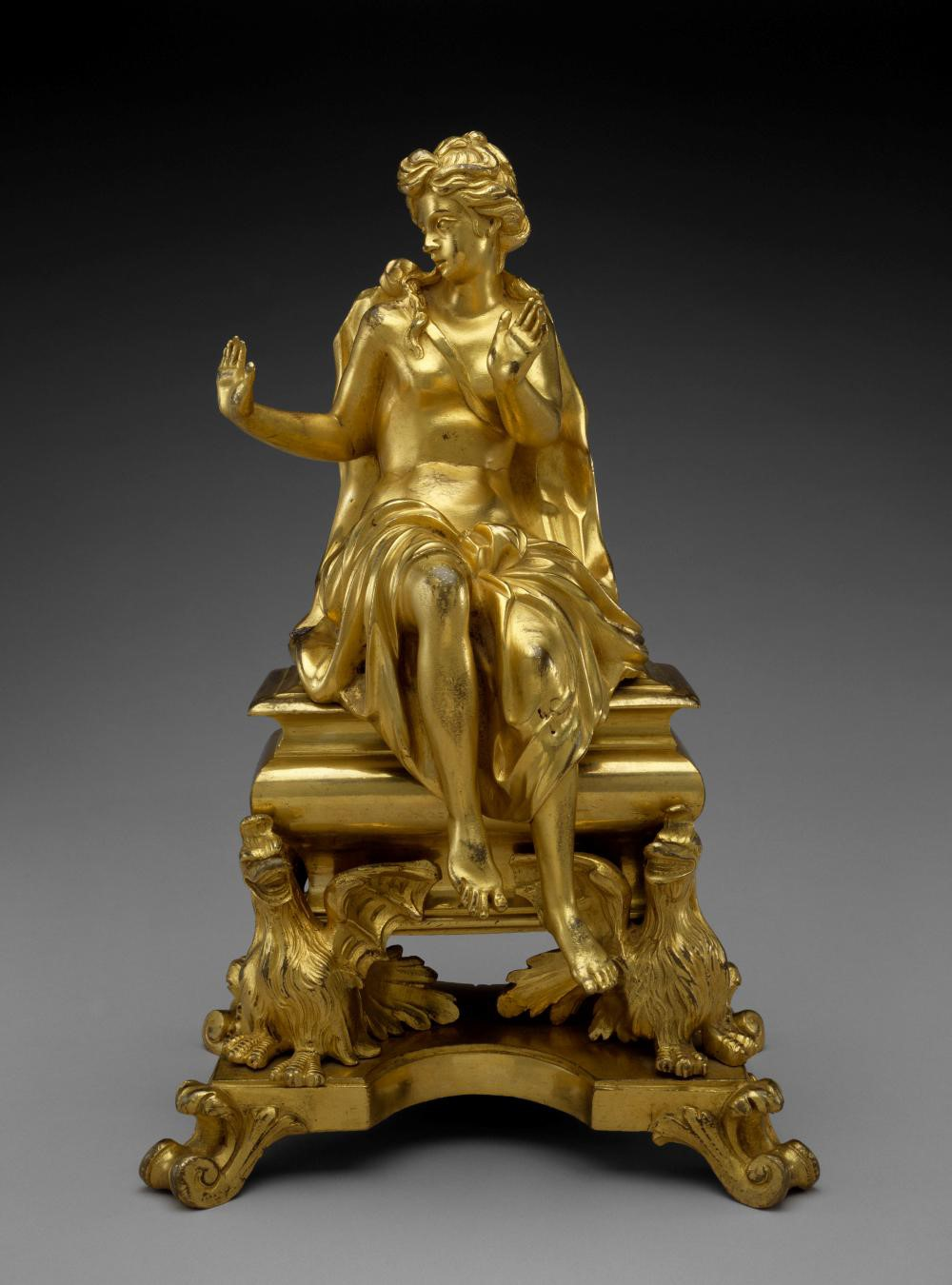French, Chenet (one of a pair), c. 1710–40