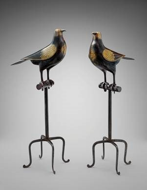 Birds on Perches, Iran, 19th century