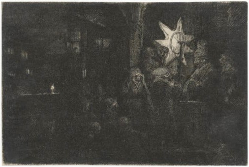 Rembrandt van Rijn, The Star of Kings: A Night Piece, c. 1652