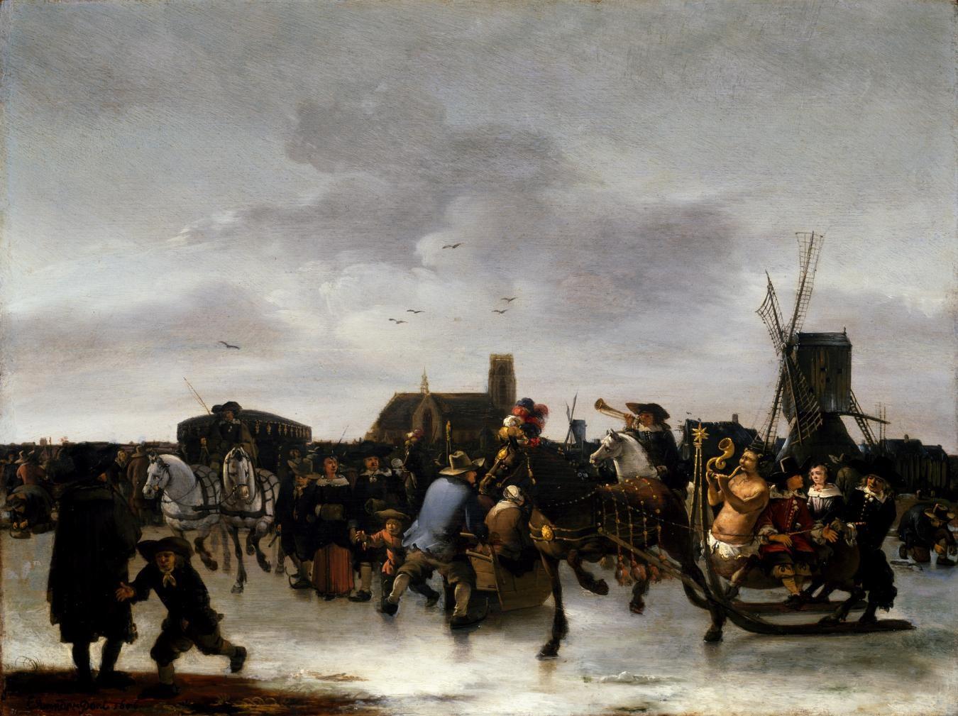 Egbert van der Poel, A Skating Scene, 1856