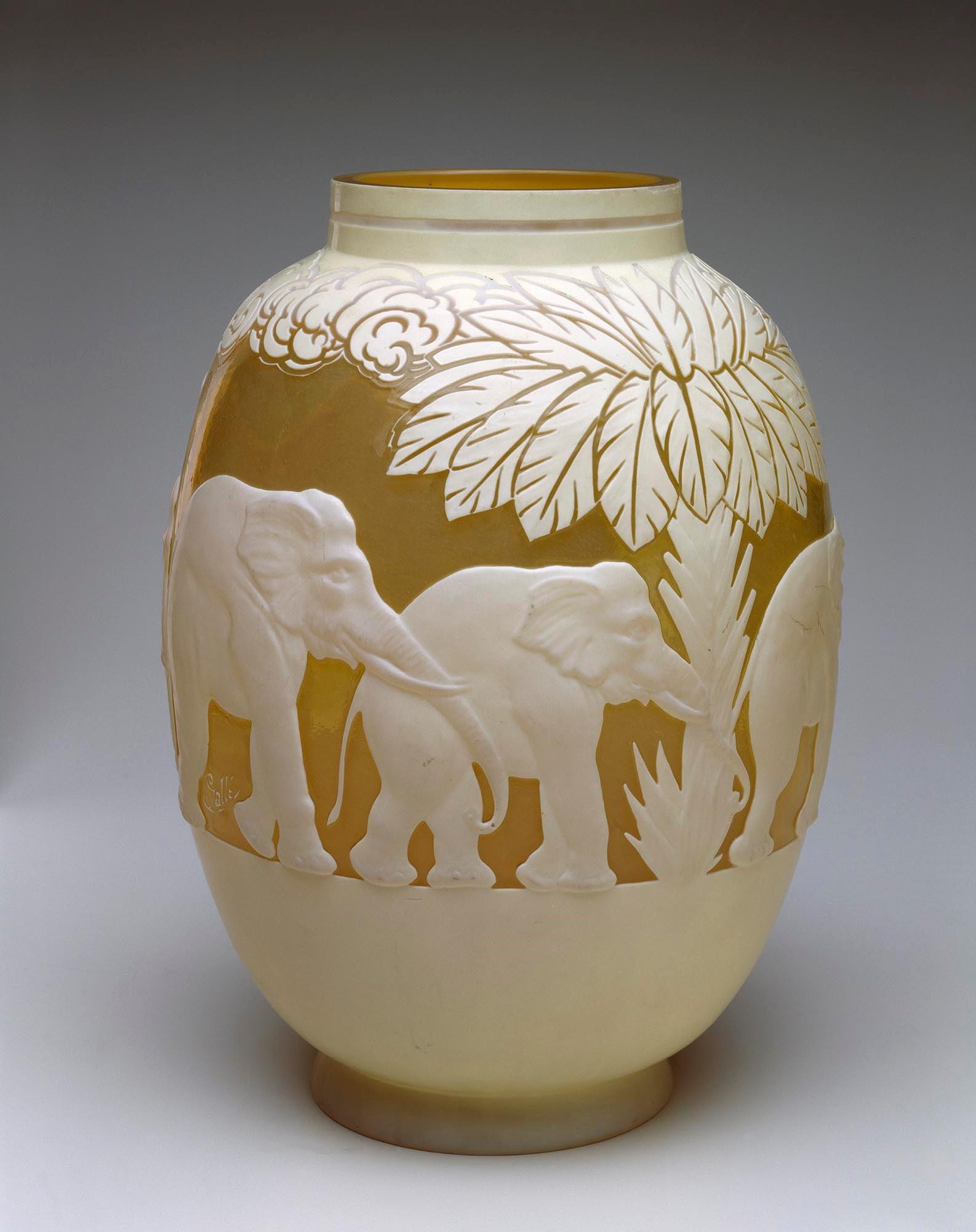 Gallé - Elephant Vase