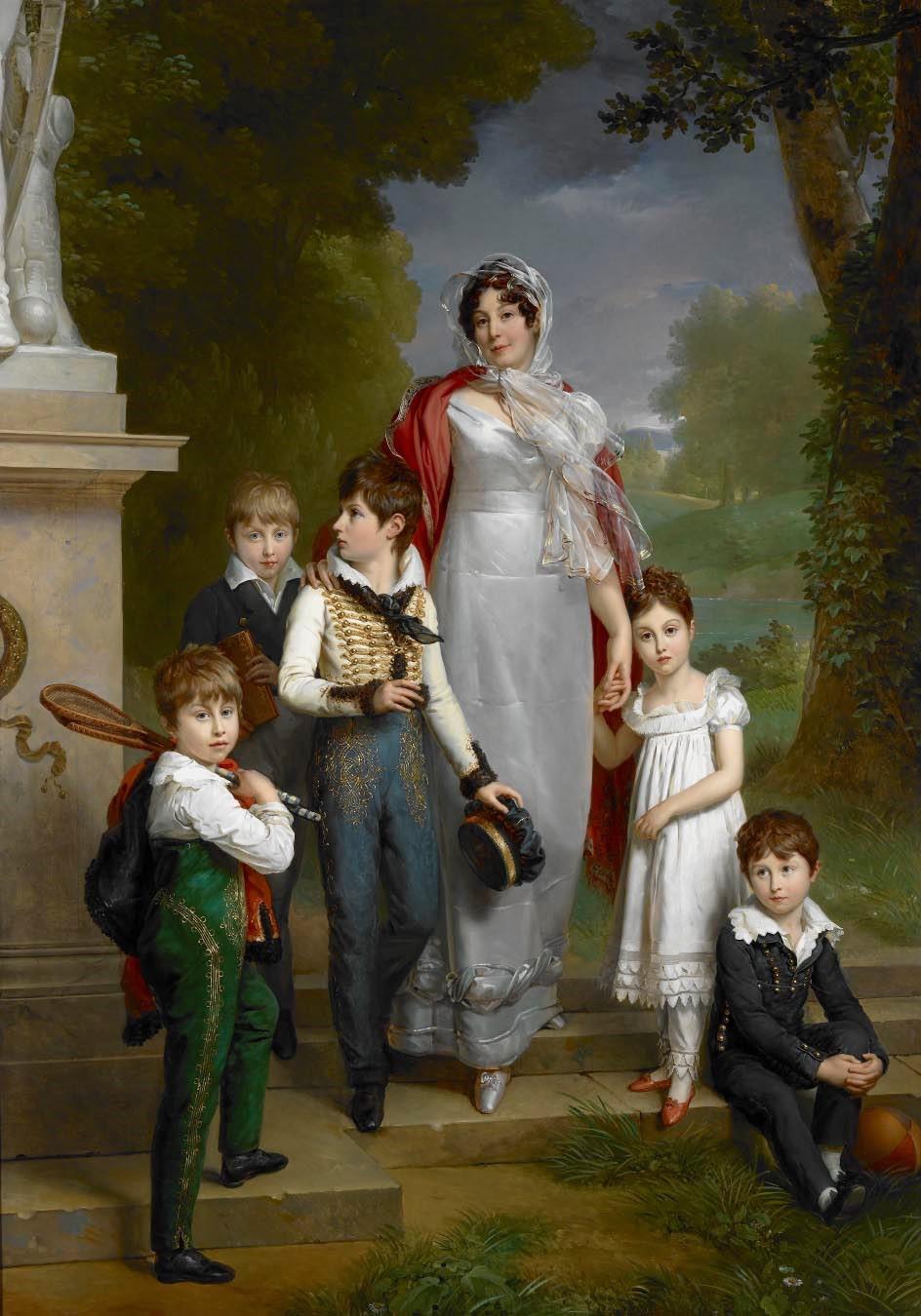 Gerard Portrait of Louise-Antoinette-Scholastique Gueheneuc, Madame la Marechale Lannes, Duchesse de Montebello, with her Children