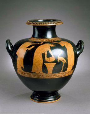 Greek - Hydria with Domestic Scene
