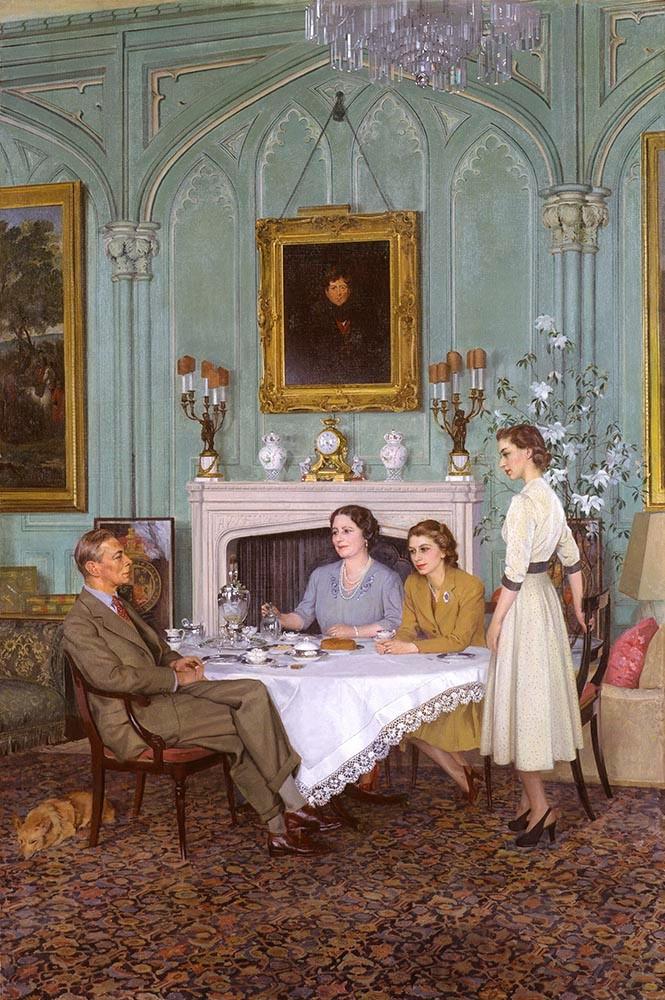 Sir James Gunn, Conversation Piece at the Royal Lodge, Windsor