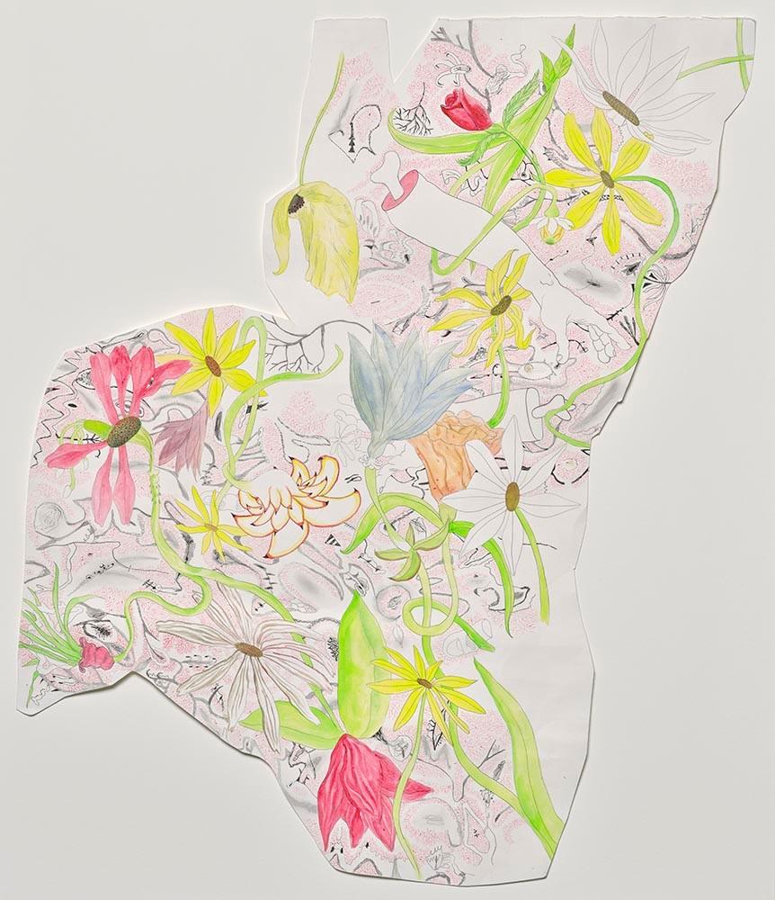 Trenton Doyle Hancock, Flower Bed, 2001