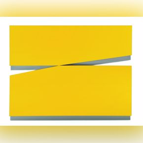 Amarillo uno (Yellow 1) by Carmen Herrera, acrylic on plywood, 1971