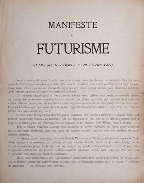 Hirsch Library artist manifesto exhibition_futurism