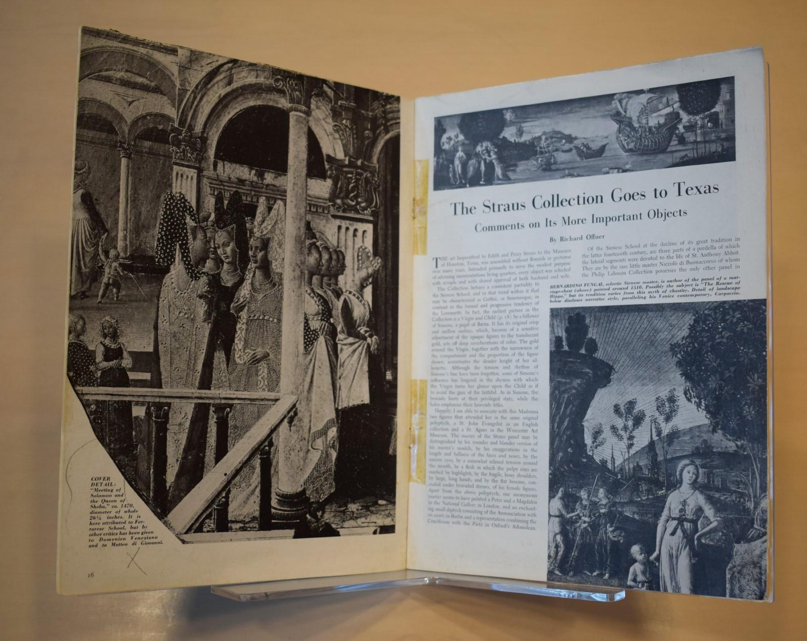 Hirsch Library exhibition fall 2017 / book interior