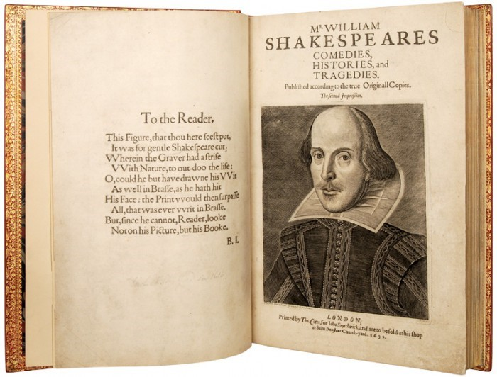 hirsch library shakespeare exhibition - 2nd folio