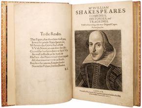 hirsch library shakespeare exhibition - 2nd folio