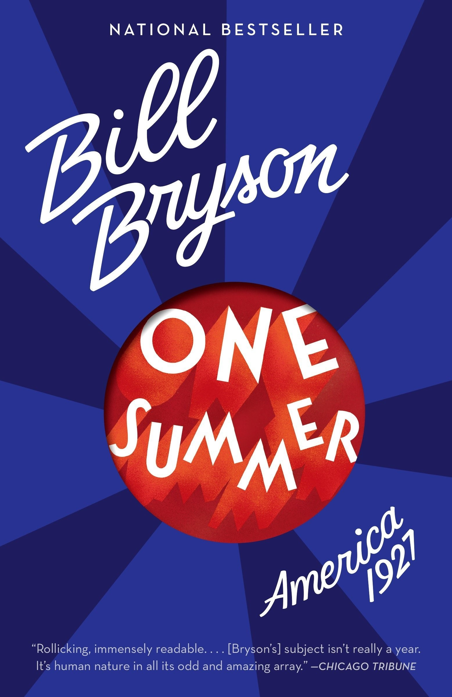 History Book Club cover - One Summer, Bryson