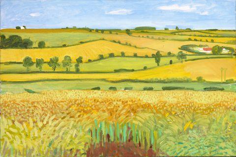 David Hockney, Woldgate Vista, 27 July 2005, oil on canvas