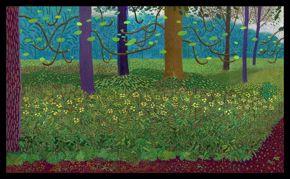 David Hockney, Under the Trees, Bigger