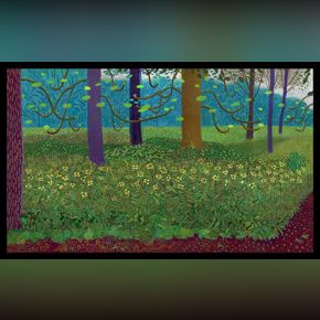 David Hockney, Under the Trees, Bigger