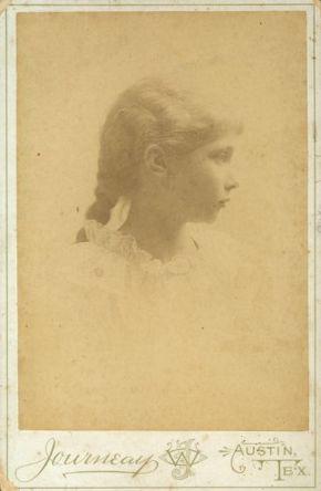 Ima Hogg, age 12, photograph by William O. Journeay, c. 1894