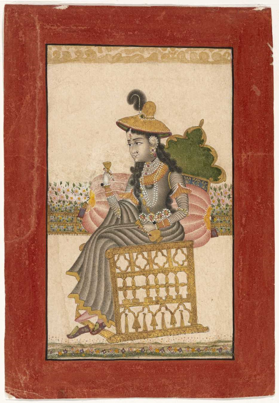 Indian, A Bejeweled Lady, 1690–1720