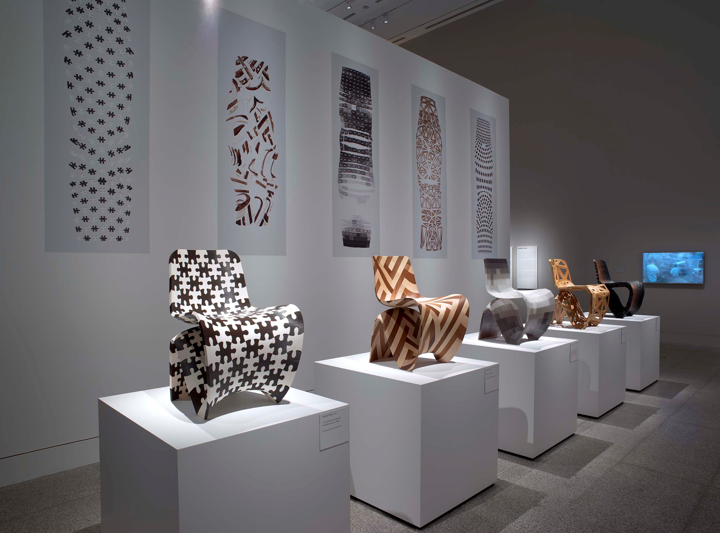 Installation view of Joris Laarman Lab: Design in the Digital Age - Makerchairs