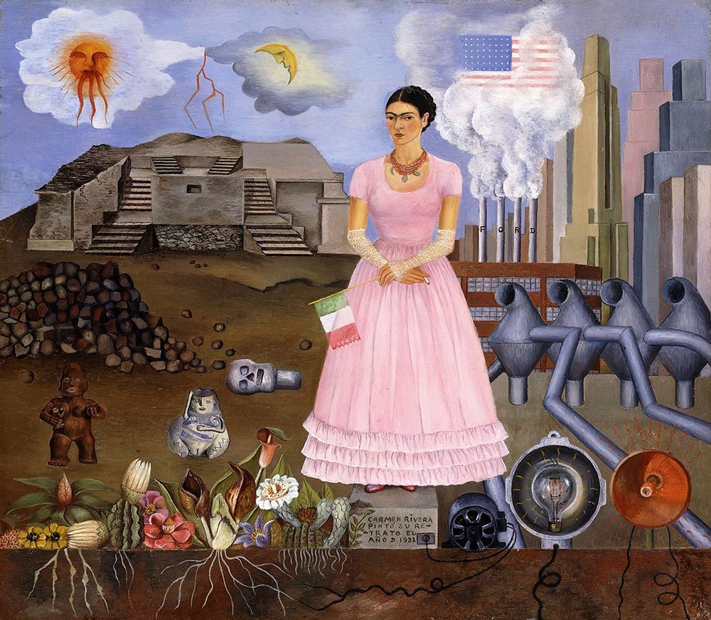 Kahlo - Self-Portrait on Border Line between Mexico and the United States