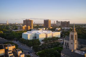 The Nancy and Rich Kinder Building at the Museum of Fine Arts, Houston, from above. Photo by Peter Molick / Thomas Kirk III