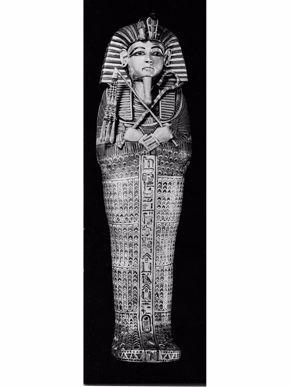 King Tut miniature gold coffin