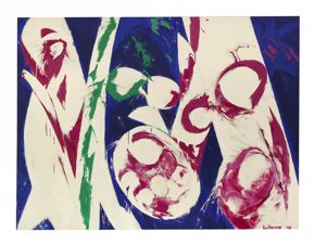 Lee Krasner, The Green Fuse, 1968, oil on canvas