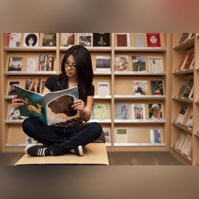 Library Image of woman reading a book