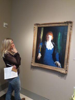 lta learning through art teacher workshop in the galleries w/ George Bellows