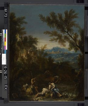 Alessandro Magnasco, Landscape with Figures, c. 1715, oil on canvas