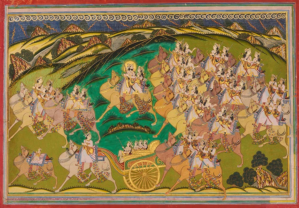 Maharaja Takhat Singh on a Hunt with Royal Women