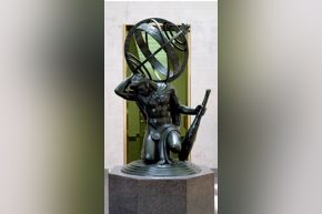 Hercules Upholding the Heavens, a 1918 bronze sculpture by Paul Manship.