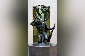 Hercules Upholding the Heavens, a 1918 bronze sculpture by Paul Manship.