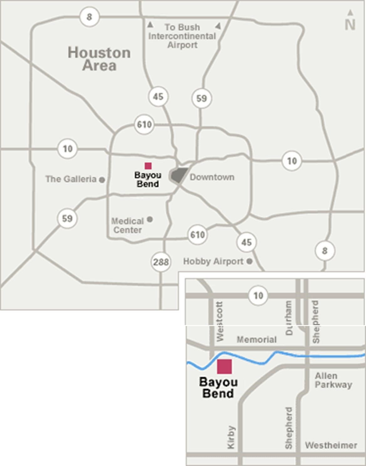 Bayous In Houston Map.Visiting Bayou Bend The Museum Of Fine Arts Houston