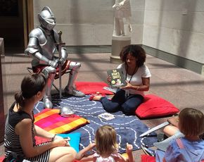 Max the Knight at storytime