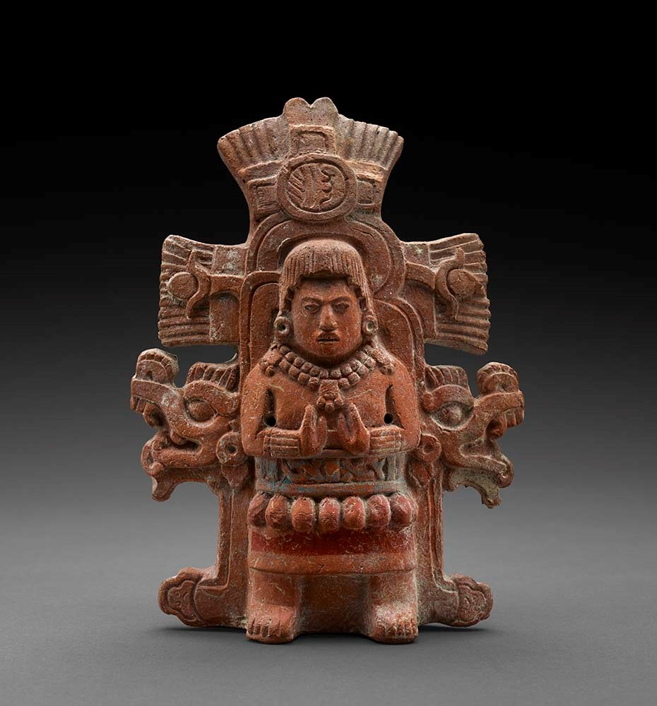 Maya - Figure in Ceremonial Dress Effigy Rattle