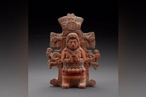 Maya - Figure in Ceremonial Dress Effigy Rattle