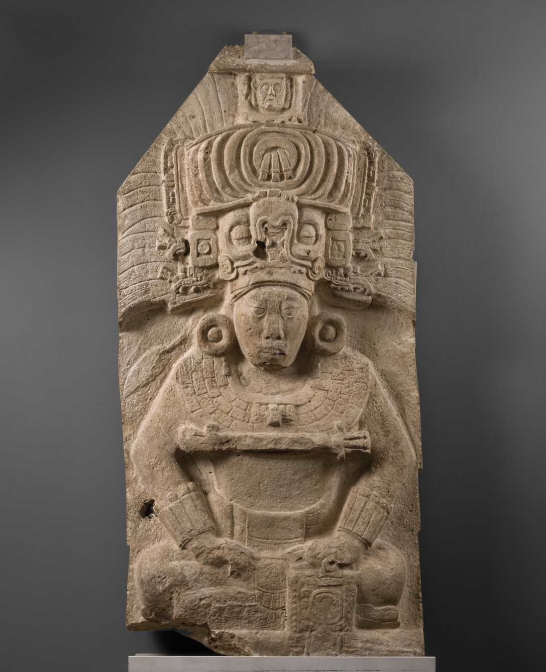 Maya, Seated Ruler from Stela 11, 731 AD
