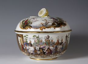 Meissen Porcelain Manufactory, Punch Bowl with Cover, 18th century