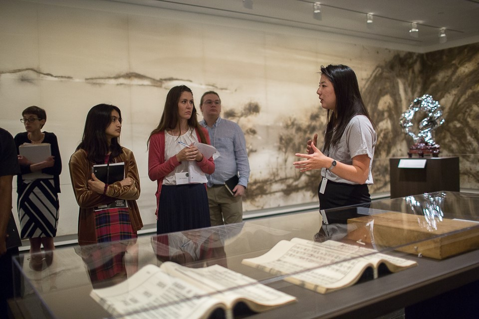 mellon summer academy college students - beatrice chan curator tour in arts of asia galleries
