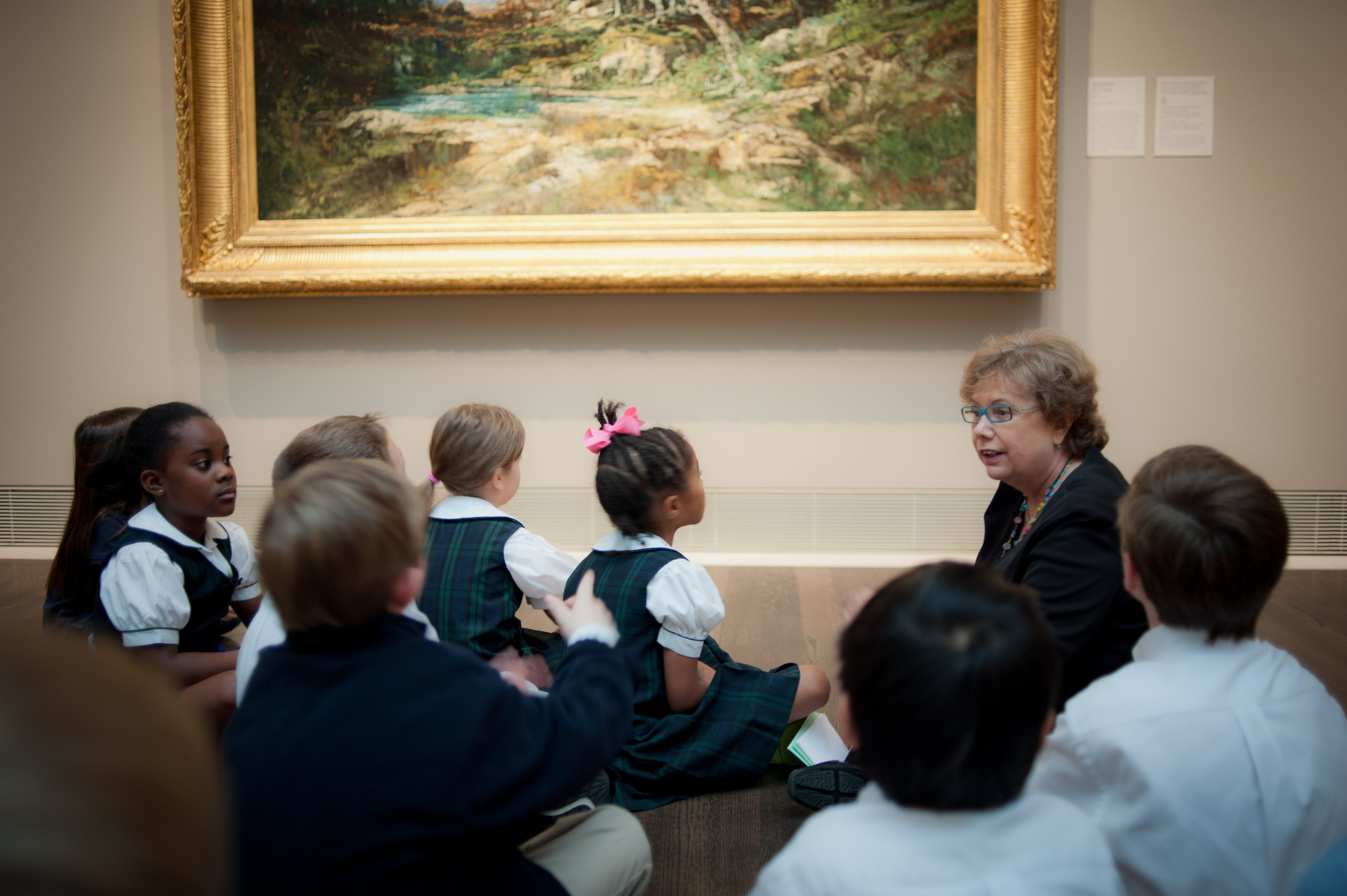 MFAH Docent with kids