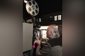 MFAH Films blog - Ralph Kaethner, 35mm projector