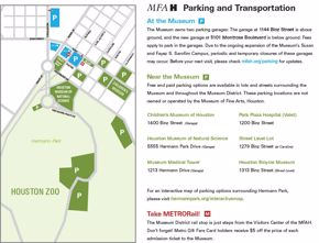 MFAH Parking Map - Updated January 2018