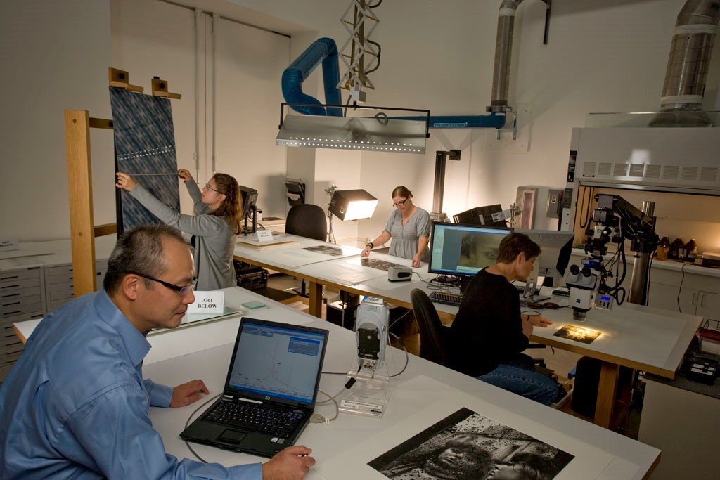 MFAH Photo conservation lab