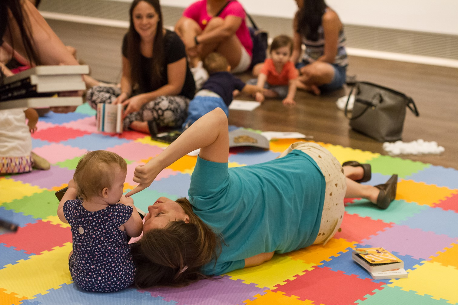 MFAH Playdate / baby - family program in the galleries