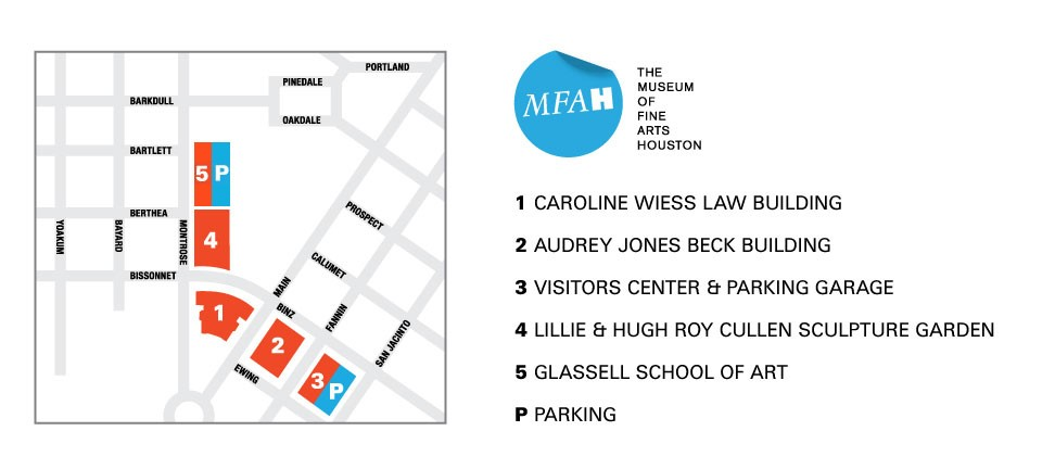 Campus Map Gallery Map The Museum Of Fine Arts Houston