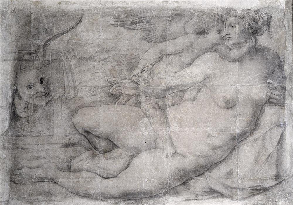 Michelangelo - Venus Kissed by Cupid