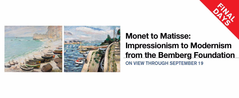 Monet to Matisse   Final Days