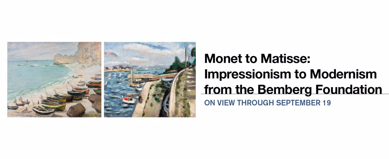 Monet to Matisse | On view through September 19