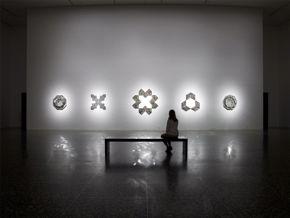 Monir Farmanfarmaian Installation in Cullinan Hall